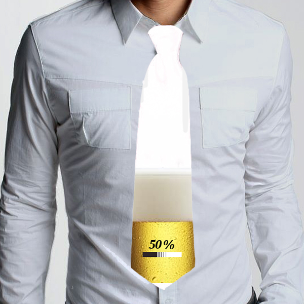 Picture of Вратовръзка с бира и надпис