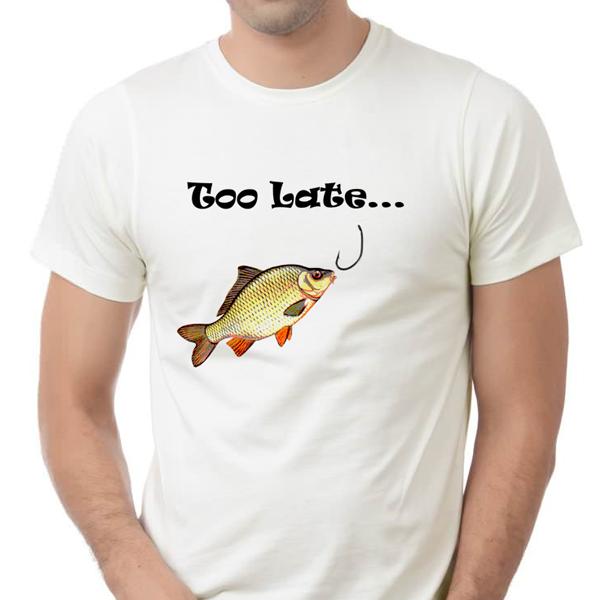 """Picture of Мъжка тениска """"Too late"""""""