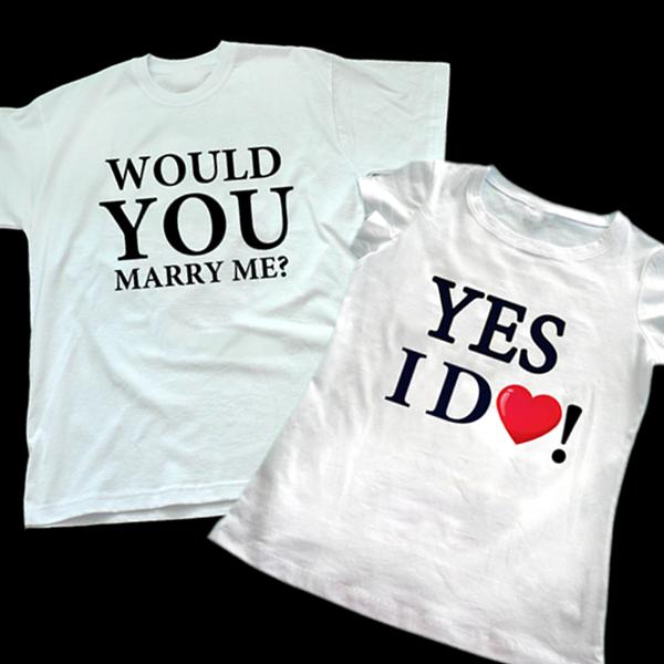 "Picture of Тениски за сгодени ""Мarry me"""