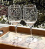 Picture of Персонализирани чаши за вино с надпис LOVE