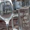 Picture of Комплект ръчно гравирани халба и чаша за вино