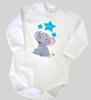 Picture of Бебешко боди със слонче и име на детето