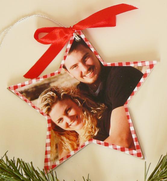 Picture of Коледна декорация за елха със снимка Звезда