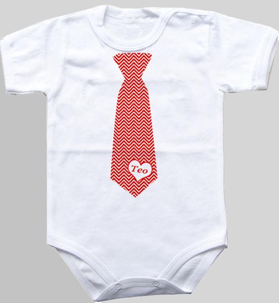 """Picture of Бебешко боди  """"Вратовръзка със сърце"""""""