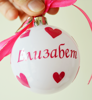 Picture of Коледна топка за eлха с име и панделка