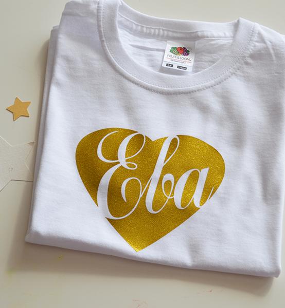 Picture of Тениска със златно сърце и надпис