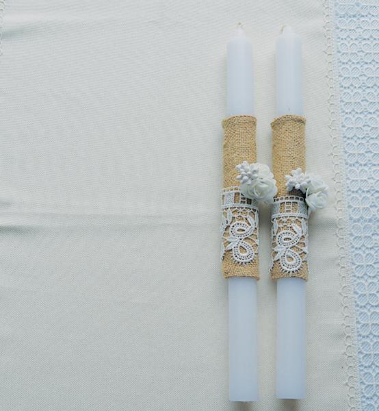 """Picture of Комплект  ритуални свещи в стил """"Рустик'"""