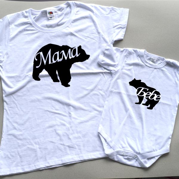 """Picture of Комплект тениски за майка и бебе """"Bears"""""""