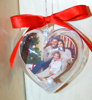 Picture of Коледна украса сърце за eлха със снимка и послание