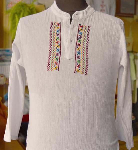 Picture of Детска кенарена риза с ръчна бродерия