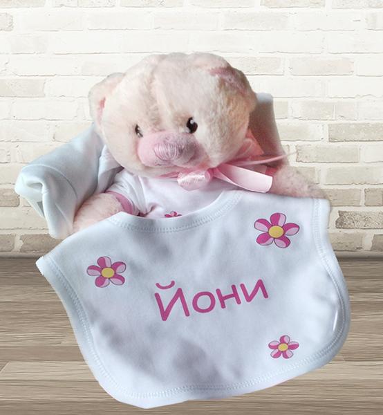 Picture of Персонализиран подаръчен комплект за бебе- момиче