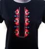 "Picture of Дамска черна тениска ""Шевици"""