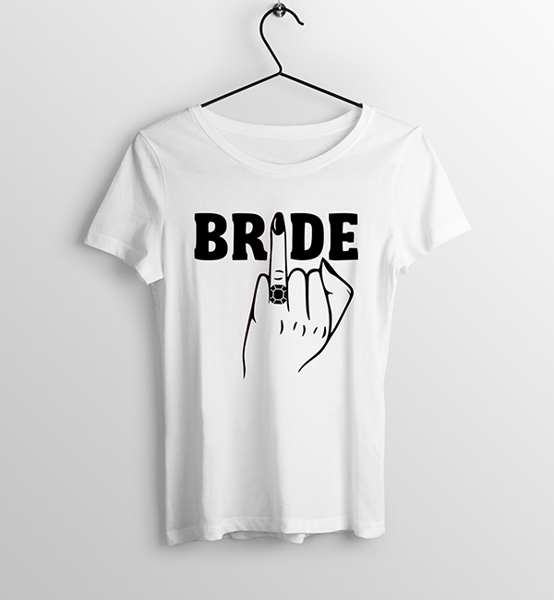 Picture of Тениска с ръка с годежен пръстен BRIDE