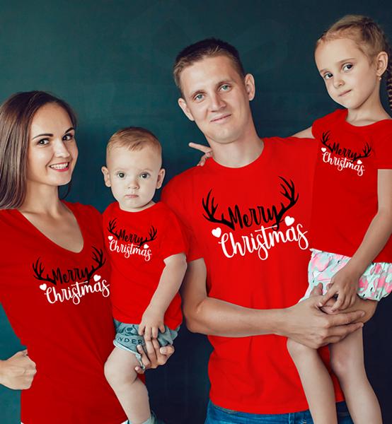 Picture of Комплект семейни тениски Merry Christmas