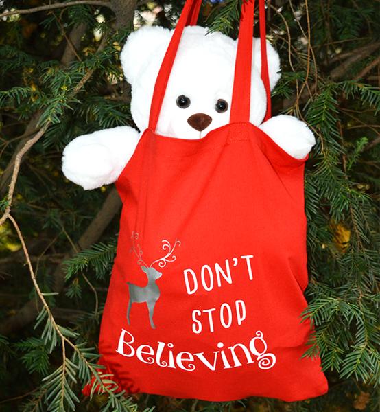 Picture of Коледна торба за подаръци Believe