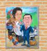 Picture of Рисувана карикатура по поръчка Две лица 30/40