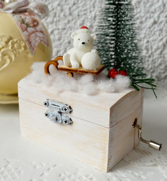 Picture of Музикална кутийка ръчна изработка Bear