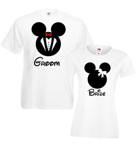 "Picture of Тениски за младоженци ""Mouse Bride & Groom"""