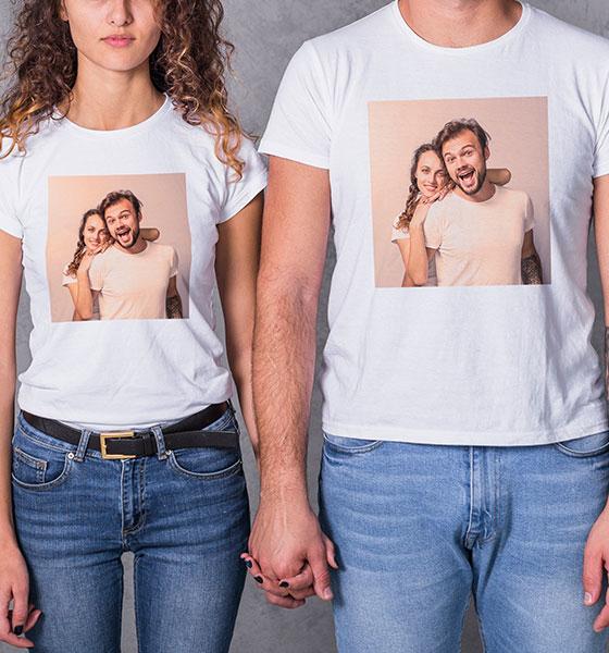 Picture of Тениски за двойки  със ваша снимка