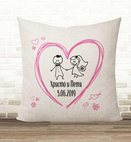 Picture of Възглавница от памук за младоженци