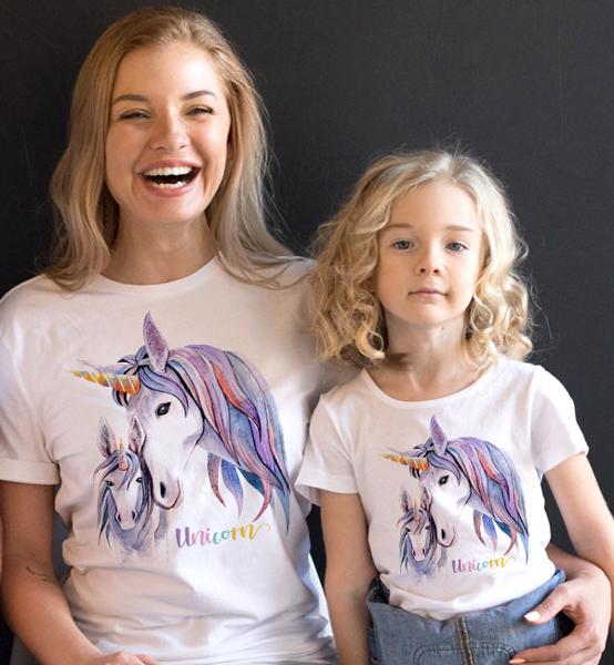 """Picture of Комплект тениски за майка и дъщеря """"Unicorns"""""""