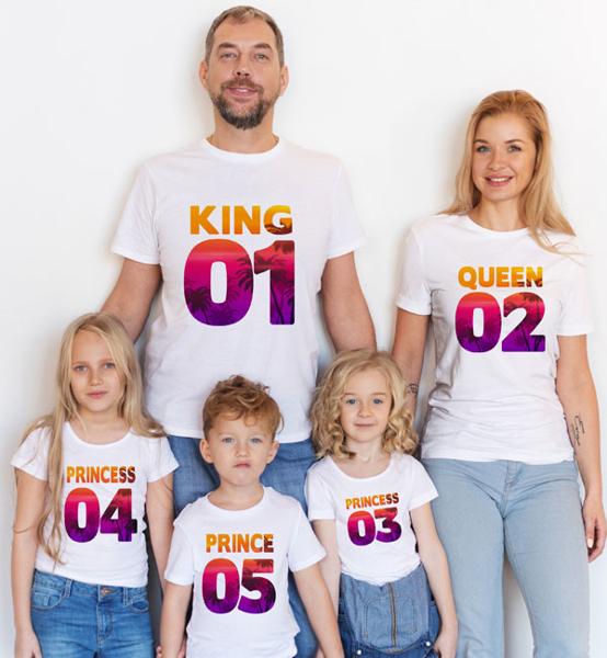 Picture of Комплект семейни тениски Tropic Numbers