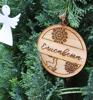 """Picture of Персонализирана коледна украса от дърво с гравирано име """"Коледна приказка"""""""